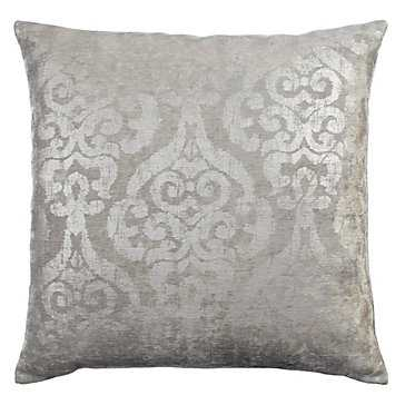 "Serena Pillow 24"" - Silver - Z Gallerie"