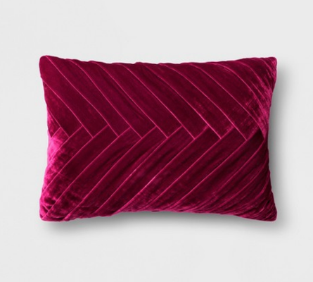 Pleated Velvet Lumbar Pillow - Opalhouse™ - Target