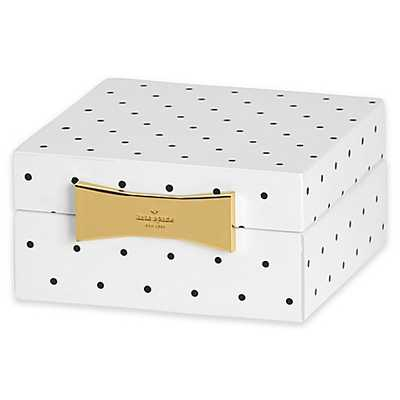 kate spade new york Garden Drive™ Square Jewelry Box in Black Dot - Bed Bath & Beyond