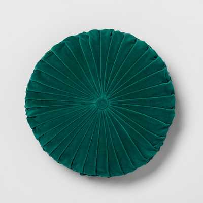 Pleated Velvet Round Throw Pillow - Target