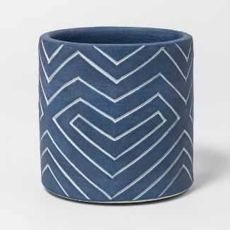 Earthenware Planter 4in - Dark Blue - Project 62 - Target