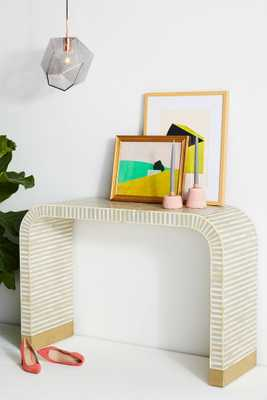 Waterfall Inlay Console Table - Anthropologie
