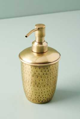 Hammered Brass Bath Collection: Soap Dispenser - Anthropologie