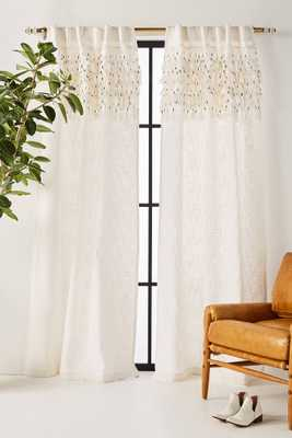 "Macrame Tasseled Curtain, 84"" - Anthropologie"