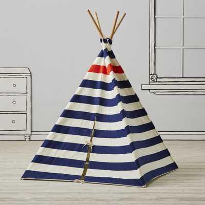 Nautical Blue Stripe Teepee - Crate and Barrel