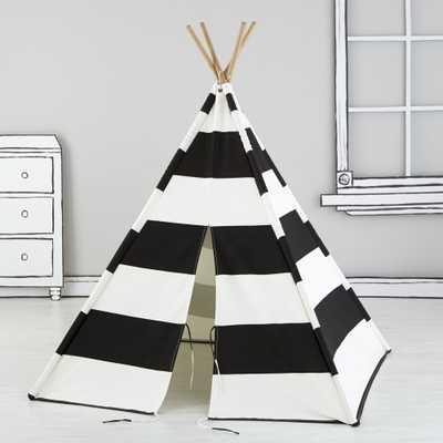 Black Stripe Teepee - Crate and Barrel