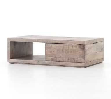 Dupree Acacia Wood Storage Coffee Table - Pottery Barn