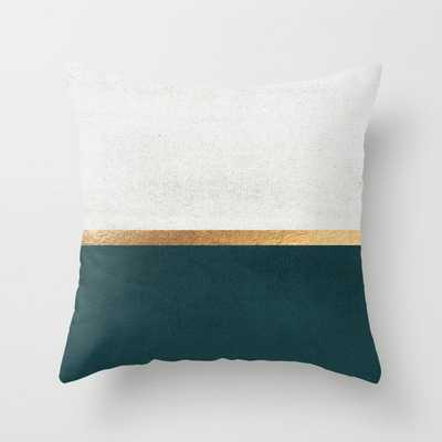 Deep Green, Gold and White Color Block by Jenna Davis Designs - Society6