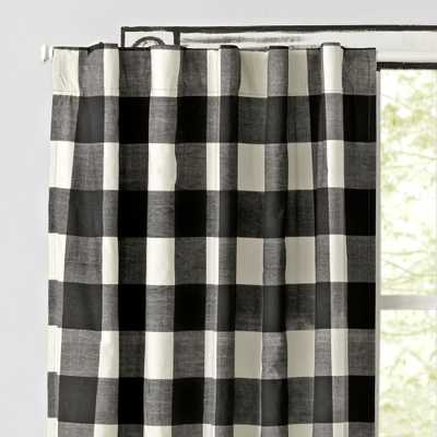 """Black Buffalo Check 96"""" Blackout Curtain - Crate and Barrel"""