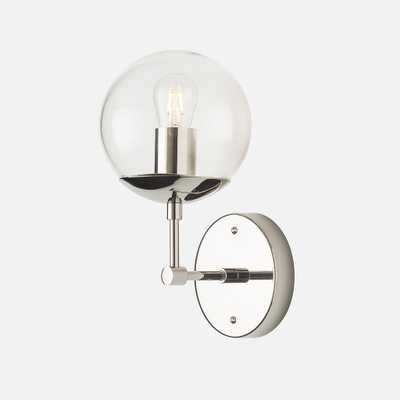 Ellerbe Sconce - No Switch - Clear Shade - Schoolhouse Electric