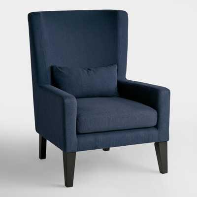 Indigo Blue Triton High Back Chair - Fabric by World Market - World Market/Cost Plus