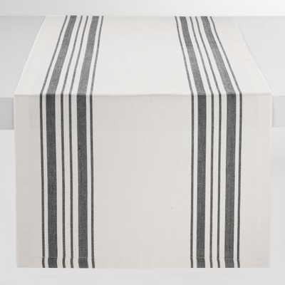 Black Villa Stripe Table Runner - Cotton by World Market - World Market/Cost Plus