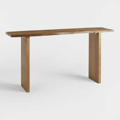 Wood Maleya Live Edge Console Table: Natural by World Market - World Market/Cost Plus