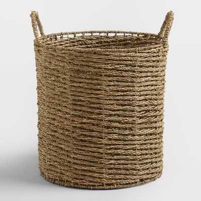 Trista Seagrass Tote Basket: Natural - Natural Fiber - Medium by World Market - World Market/Cost Plus