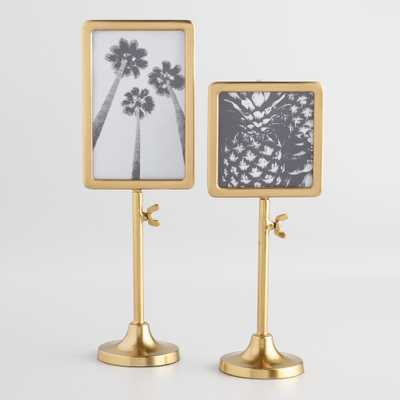 """Gold Telescoping Tabletop Frame - 4""""x6"""" by World Market 4""""x6"""" - World Market/Cost Plus"""