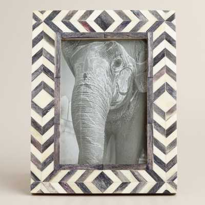 Gray and Natural Tribal Bone London Frame: Gray/Natural by World Market - World Market/Cost Plus