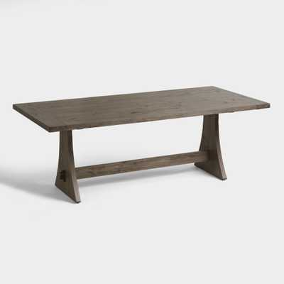 Rustic Wood Brinley Fixed Dining Table - Large  by World Market - World Market/Cost Plus