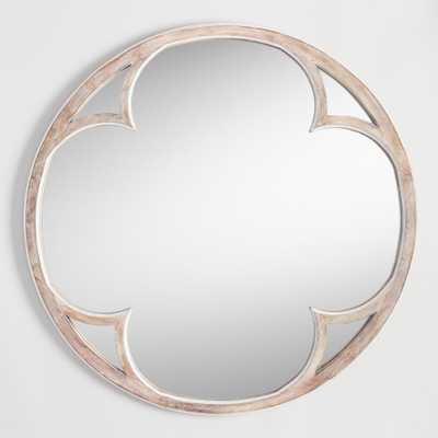 Round Sorrento Mirror: Natural - Wood by World Market - World Market/Cost Plus