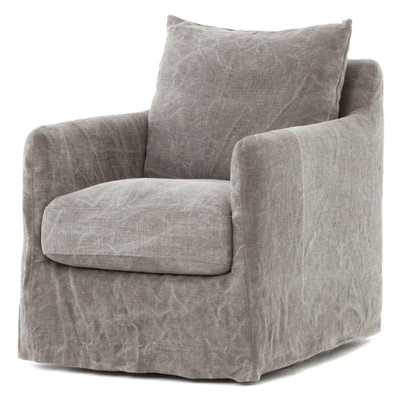 Four Hands Banks Jute Swivel Accent Chair - Hayneedle
