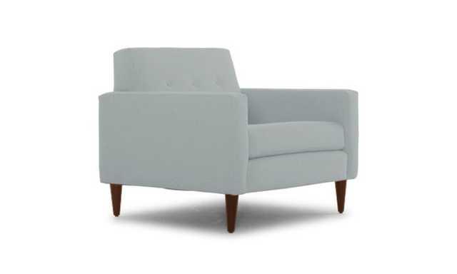 Blue Korver Mid Century Modern Chair - Origin Mist - Mocha - Joybird