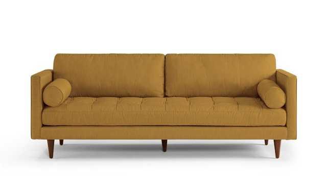 Yellow Briar Mid Century Modern Sofa - Genova Gold - Medium - Joybird