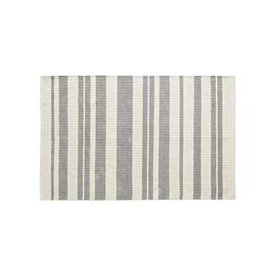 Barcode 5x8' Grey Striped Rug - Crate and Barrel
