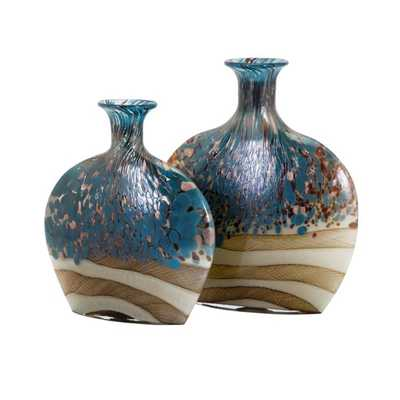 Nordiak Glass Vases - Set of 2 - Mercer Collection