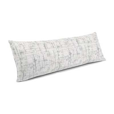 Large Lumbar Pillow  Etch A Sketch - Silver - 14x48 - Down insert - Loom Decor
