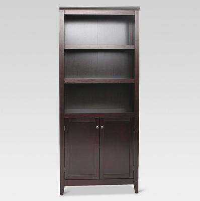 Carson 5 Shelf Bookcase with Doors- Espresso - Target