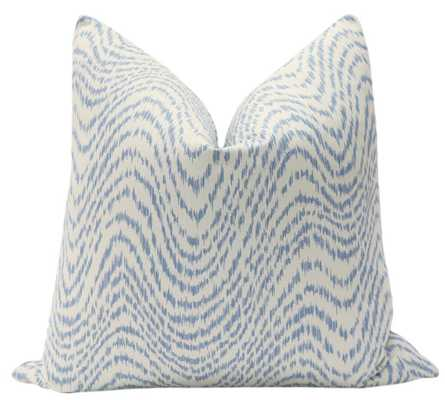 "Woven Flamestitch // Chambray PIllow 18"" x 18"" - Little Design Company"
