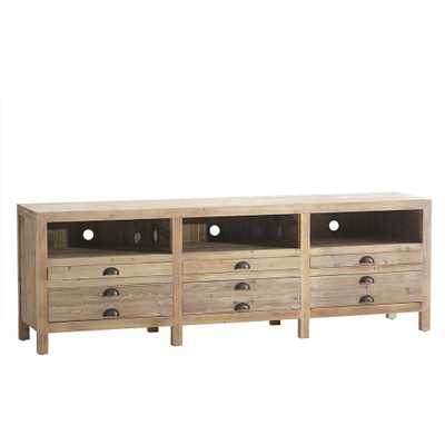 RECLAIMED WOOD CONSOLE - 6 Drawer - Wisteria