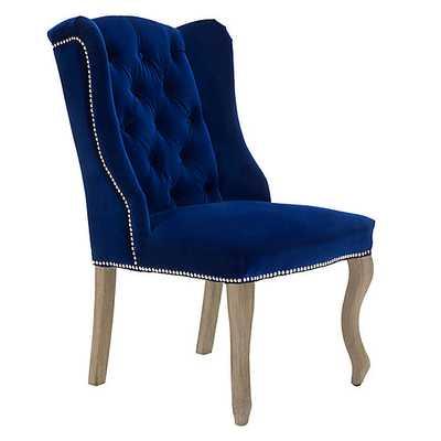 Archer Dining Chair - Natural Grey-Regal Sapphire - Z Gallerie