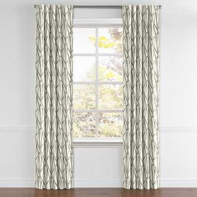 Back Tab Drapery  Tessellate - Charcoal, 89 x 50, split pair draw, privacy lined - Loom Decor