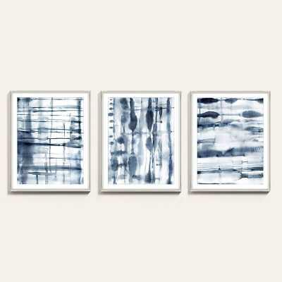 "Ballard Designs Indigo Shibori Art  30"" x 24"" - Print I - Ballard Designs"
