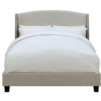 Chambery Shelter Back Queen Upholstered Panel Bed - Wayfair