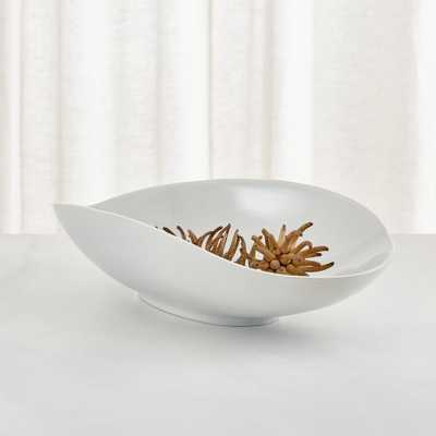 Dove Grey Oblong Centerpiece Bowl - Crate and Barrel