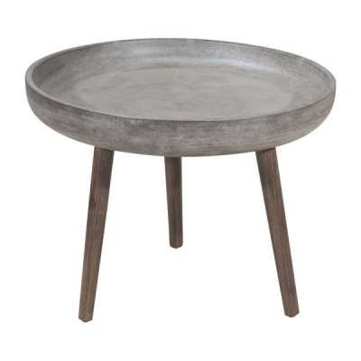 Brother Side Table - Cement - Zuri Studios