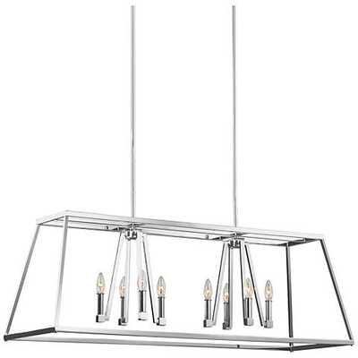 "Feiss Conant 48"" Wide Chrome 8-Light Island Chandelier - Lamps Plus"