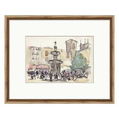"Ballard Designs City Stroll Sketch Art  21"" x 26"" - Print I - Ballard Designs"