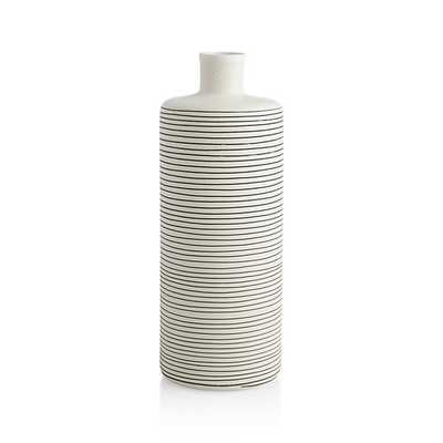 Raya Cream Bottle Vase - Crate and Barrel