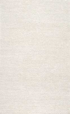 Hand Woven Chunky Woolen Cable Rug - 6' x 9' - Loom 23