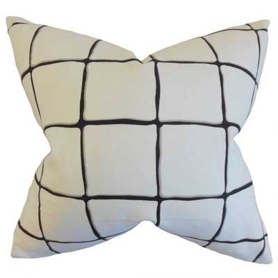 Owen Checked Pillow Cover Ink- Cover only - Linen & Seam