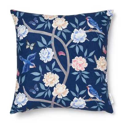 """NAVY CHINOISERIE PILLOW Cover - 20"""" x 20""""-Insert sold separately - Caitlin Wilson"""