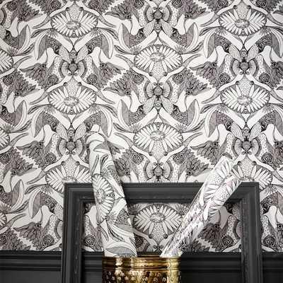 "Anna Sui Nouveau Surestrip Wallpaper, 27""x27' - Pottery Barn Teen"