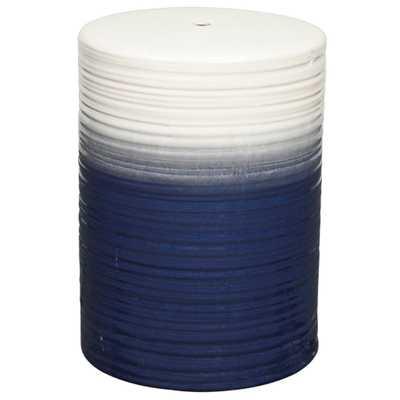 Potter Ceramic Garden Stool BLUE - Apt2B
