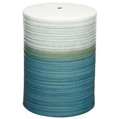 Potter Ceramic Garden Stool TURQUOISE - Apt2B