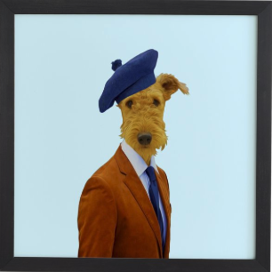 "MR MC FOX - black frame artwork - 30""x30"" - Wander Print Co."
