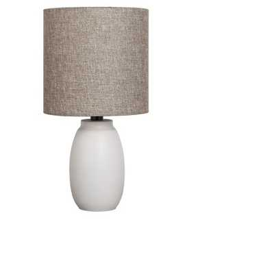 Painted Base Table Lamp White with Tan Shade - Target