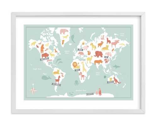 Animal World Map - Minted