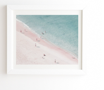 Beach Family Love Framed Art Print - 19x22.4 - Wander Print Co.